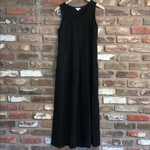 J.JILL LOVE LINEN Black Maxi Pocket Dress